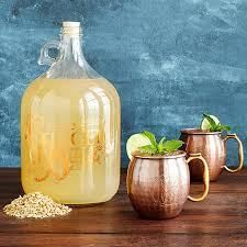Ginger Beer Making Kit with Copper Mule Mugs to Ferment a gallon of piquant ginger beer from all-organic ingredients in about a week's time South African Dishes, South African Recipes, Africa Recipes, Fun Drinks, Yummy Drinks, Beverages, Cold Drinks, Beach Drinks, Pineapple Beer
