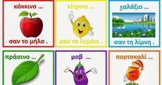 Ζήση Ανθή : Χρώματα στο νηπιαγωγείο .    Ένα αντικείμενο αντιπροσωπευτικό από το κάθε χρώμα σας ζητώ !         Λεκτικό παιχνίδι με τα χρώ... Preschool Education, Kindergarten Classroom, Math 4 Kids, Learn Greek, Greek Language, Teaching Colors, Alphabet Coloring, Color Shapes, First Day Of School