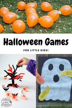 Easy and fun halloween games that are perfect for little toddlers and preschoolers, as well as older children. These fun Halloween activities are great for the backyard or a Halloween party! Fun Halloween Activities, Halloween Games For Kids, Halloween Party, Games For Little Kids, Kids Learning Activities, Arts And Crafts Projects, Toddler Preschool, Diy Costumes, Toddlers