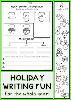 I have always loved using tree maps in writing instruction so I designed these activities to combine the fun of drawing with a helpful writing tool!
