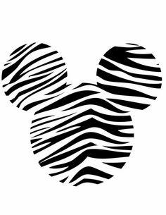 Minnie Head Zebra Black & White - 3600x4659px