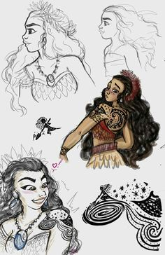 Older Moana  Love this fanart❤ #moana #tattoo #disney
