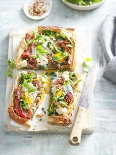 If you are having brunch and want to serve something slightly different to impress your guests…then serve this bacon and egg classic but with a twist. We have made your bacon and egg classic into a tart full of flavour, delicious crispy pastry and fresh herbs. Delicious for breakfast, brunch or lunch.  www.inourkitchen.com.au Created by Ellie Vernon Styled by Stephanie Souvlis Photography www.andremartinphoto.com