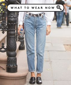Sorry, Skinny-Jean Loyalists: These Are The New Normal #refinery29 http://www.refinery29.com/mom-jeans-outfits