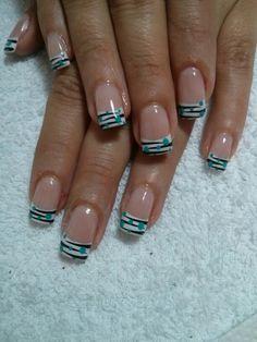 French Nail Designs, Diy Nail Designs, Acrylic Nail Designs, French Manicure Nails, French Tip Nails, Hot Nails, Hair And Nails, Fancy Nails, Pretty Nails