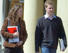 Study buddies, Prince William and Kate Middleton, on campus at St. Andrews University in 2003. William graduated with a master of arts degree in geography, Middleton with a master of arts degree in art history. (Peter Kelly)