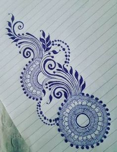 Tattoo mandala design inspiration henna mehndi 15 ideas for 2019 Floral Henna Designs, Mehndi Designs Book, Mehndi Design Photos, Simple Mehndi Designs, Flower Tattoo Designs, Tattoo Flowers, Hena Designs, Henna Designs On Paper, Floral Design