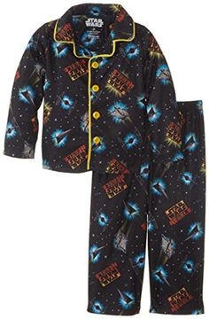 Star Wars Little Boys' Button Front Pajama Set by Star Wars