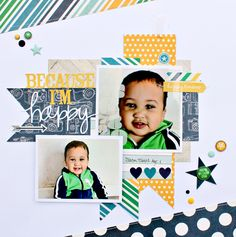 #papercraft #scrapbook #layout. Because I'm Happy - Scrapbook.com