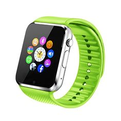 Fantime Smart-Watch All-in-One, Bluetooth, mit SIM-Karte/TF-Karte für Apple iPhone 5S/6/6S und Android oder höher - http://uhr.haus/fantime/gruen-fantime-smart-watch-all-in-one-bluetooth-mit