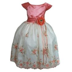 Girl Easter Dresses – Coral Satin Embroidery « Clothing Impulse