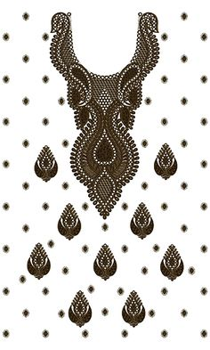 9296 Dress Embroidery Design