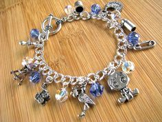 It's A Boy! New Mom Grandma Baby Shower Gender Reveal Mother's Day Silver Charm Bracelet - pinned by pin4etsy.com