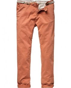 Chino city pants with clip-belt - Pants - Scotch & Soda Online Shop