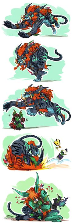Janajin's Greeting by Quarter-Virus on DeviantArt World Of Warcraft 3, Warcraft Art, Warcraft Characters, Fantasy Characters, For The Horde, Cute Romance, Creature Concept Art, Heroes Of The Storm, Wow Art