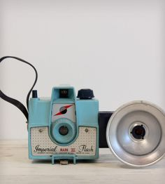 Antique Camera - Turquoise Blue Imperial Mark XII
