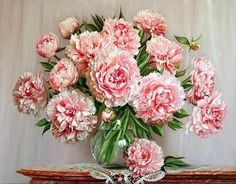 Схема вышивки «розовые пионы» - Вышивка крестом