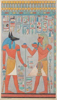 The King with Anubis, Tomb of Haremhab, KV 57. Lancelot Crane ...