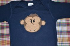 Monkey Applique Shirt/Onesie