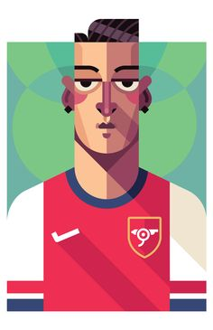 New York City-based #illustrator and graphic #designer @Daniel Nyari's creates the '#Matchmakers' project- a series of famous #football players illustrated in a vivid variety of colours and geometrical elements!