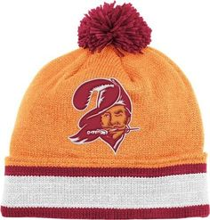 Tampa Bay Buccaneers Mitchell & Ness Throwback Vintage Knit Hat with Pom by Mitchell & Ness. Save 9 Off!. $21.95. Team jersey striping pattern on cuff. Cotton yarn embroidered team logo. Premium knit cap. Officially licensed. 100% acrylic. Protect your head and ears in the cold, blustery weather by wearing this stylish retro cuffed knit cap from Mitchell and Ness. It's made of 100% acrylic and features cotton yarn embroidered vintage team logo, team jersey striping pattern on cuff, and...