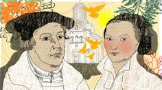 Illustration Kalenderblatt: Martin Luther heiratet Katharina von Bora | Bild: BR/ Angela Smets