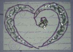 Tina Scraps's Gallery: stitched heart ATC