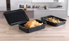 Groupon - Russell Hobbs COMBO-1970 Romano Vitreous Enamel Baking Tray, Roaster and Roaster with Rack. Groupon deal price: £11.99
