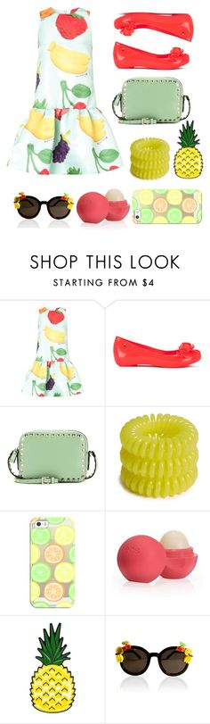 """""""Fruit !"""" by omastova-k ❤ liked on Polyvore featuring Au Jour Le Jour, Melissa, Valentino, Invisibobble, Casetify, Eos, women's clothing, women's fashion, women and female"""
