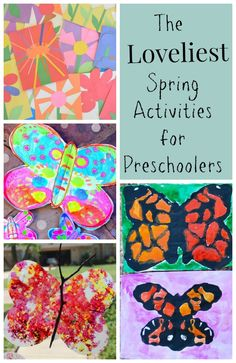 These are the loveliest spring activities for preschoolers! Great crafts, art explorations, and playful ideas!