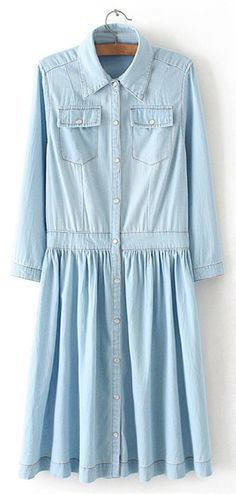 Casual Distressed Draped Denim Dress