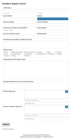 Incident Report Templates Extraordinary Pinborneosoft On Borneosoft Form Templates  Pinterest