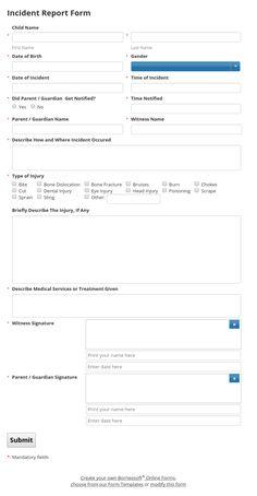 Incident Report Templates Pinborneosoft On Borneosoft Form Templates  Pinterest