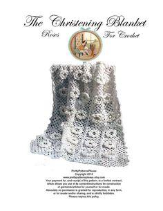 Christening Blanket Afghan Pattern for by PrettyPatternsPlease, $3.00