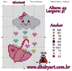 This Pin was discovered by Ayb Beaded Cross Stitch, Cross Stitch Baby, Cross Stitch Embroidery, Anchor Pattern, Needlepoint Designs, Modern Cross Stitch Patterns, Hand Embroidery Designs, Plastic Canvas Patterns, Cross Stitching