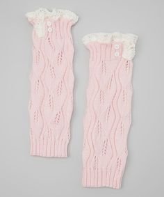 Love this Pink Lil Lilly Leaf Leg Warmers by PeekABootSocks on #zulily! #zulilyfinds