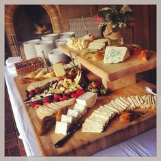 Cheese and fruit platter at Gardener Ranch