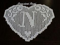 PATTERN crochet HEARTmonogram letter N filet by CreazioniFiopi