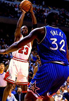 MJ shoots over Shaq
