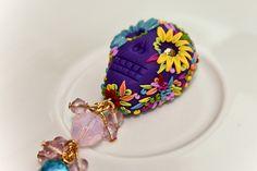 dia de los muertos purple pendant by Chili Crab, via Flickr