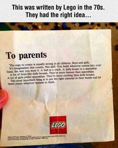 Real reasons for Lego blocks.