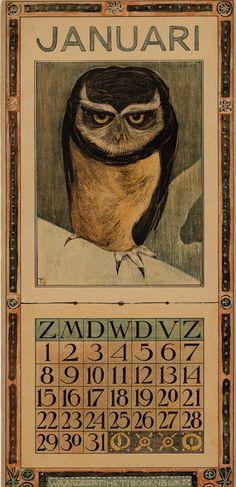 Theodoor Van Hoytema 1905 Calendar / Tresling & Company Publishing