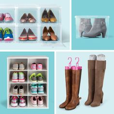 Looking for quick ways to make the most of your shoe storage? If possible, avoid storing shoes underneath hanging clothes and choose clear drawers or boxes so that you can quickly identify the pair you want! Check out these tips and more, here!