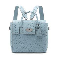 Mulberry - Cara Delevingne Bag in Sky Blue Ostrich
