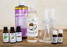 DIY: Coconut Oil Antibacterial Foaming Hand Soap | http://hellonatural.co/diy-coconut-oil-antibacterial-foaming-hand-soap/