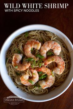 Wild White Shrimp with Spicy Noodles