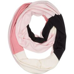 Kate Spade Colorblock Infinity Scarf (200 CAD) ❤ liked on Polyvore featuring accessories, scarves, infinity circle scarf, oblong scarves, tube scarves, circle scarf and loop scarves