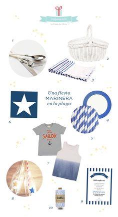 Inspiración para una fiesta en el Mar! Visita www.lafiestadeolivia.com