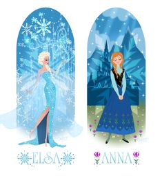 Anna And Elsa of Arendelle by Cor104 on deviantART