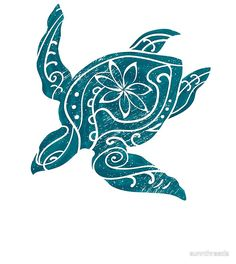 'Vintage Hawaiian Tribal Turtle ' Drawstring Bag by sunnthreads Hawaiian Tribal Tattoos, Tribal Turtle Tattoos, Turtle Tattoo Designs, Giraffe Tattoos, Maori Art, Turtle Love, Vintage Hawaiian, Native Art, Tribal Art